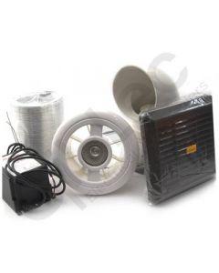Luminair Shower Fan and Light Kit + Timer