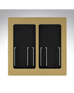 Lutron RA2 Select Dual Gang Pico Faceplate - Satin Brass