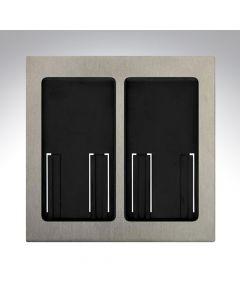 Lutron RA2 Select Dual Gang Pico Faceplate - Satin Nickel