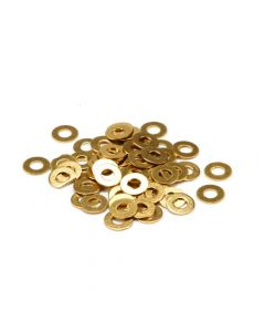 M4 Form A Brass Washer 4mm Box of 10