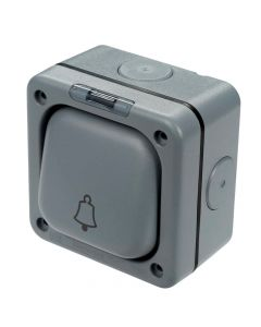 1 Gang 2 Way Outdoor Bell Switch SP + Neon 10A