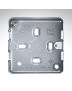 MK Grid Flush Aluminium Box 1-2 Gang + Knockout