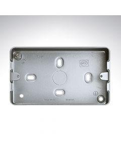 MK Grid Flush Aluminium Box 3-4 Gang + Knockout