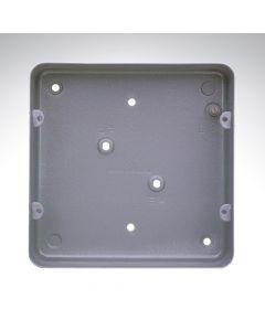 MK Grid Flush Aluminium Box 6-8 Gang + Knockout