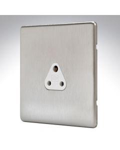 MK Aspect Brushed Steel Lighting Socket 2amp