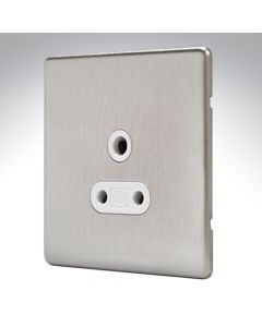 MK Aspect Brushed Steel Lighting Socket 5amp
