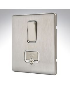 MK Aspect Brushed Steel Fused Spur Switched