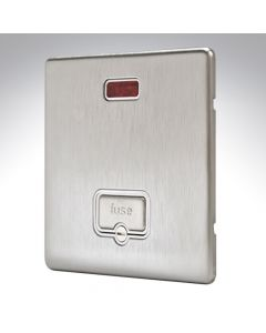 MK Aspect Brushed Steel Fused Spur Unswitched