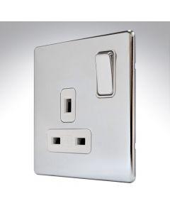MK Aspect Polished Chrome Single Socket