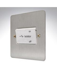 MK Edge Brushed Steel Fan Isolator Switch