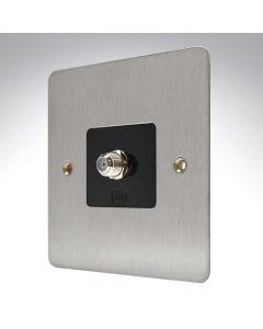 MK Edge Brushed Steel TV Satellite Socket