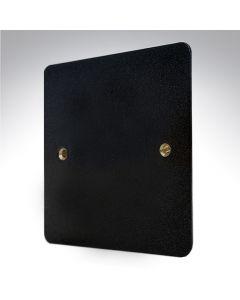 MK Edge Lustrous Black Metal Single Blank Plate