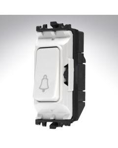 MK Grid Switch 2 Way Single Pole Bell Push 10A