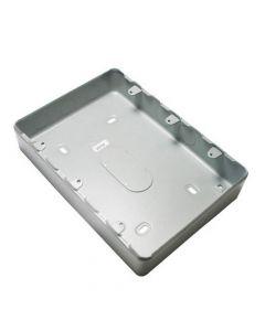 MK Grid Flush Aluminium Box 24 Gang + Knockout