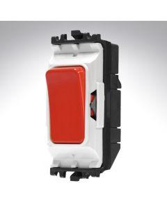 MK Grid Switch 2 Way Single Pole 20A Red