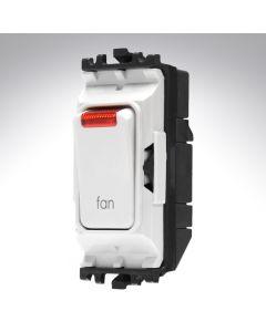 MK Grid Switch + Neon Double Pole 20A Fan