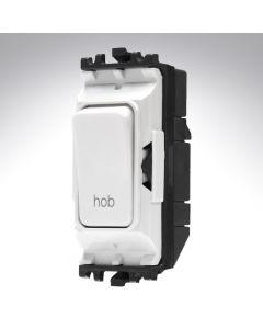 MK Grid Switch 1 Way Double Pole 20A Hob