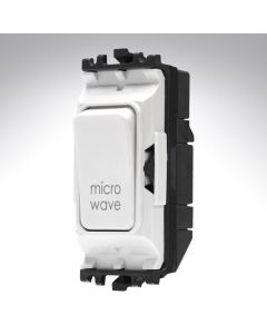 MK Grid Switch 1 Way Double Pole 20A Microwave