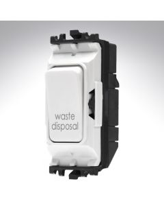 MK Grid Switch 1 Way Double Pole 20A Waste Disposal