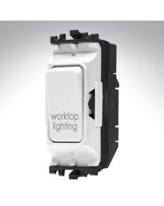 MK Grid Switch 1 Way Double Pole 20A Worktop Lighting