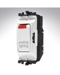 MK Grid Switch + Neon Double Pole 20A WorkTop