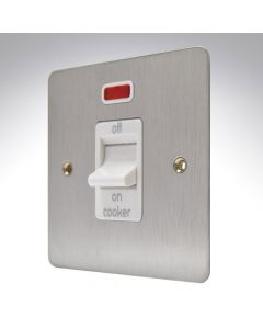 MK Edge Brushed Steel Cooker Switch