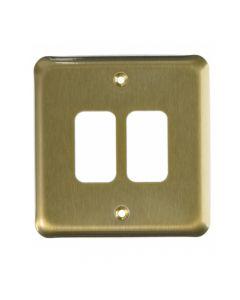 MK Grid 2 Module Frontplate Satin Gold