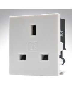 2 Module UK 13A Power Socket