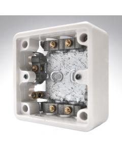 MK Surface MI Cable Box 1 Gang 37mm