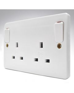 MK Double Socket Outside Switches