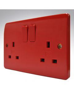 MK Double Socket Red