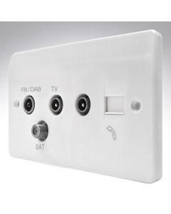 MK TV - FM/DAB - SAT Triplexer Socket + BT + TV