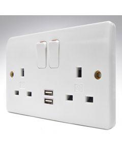 MK USB Double Socket