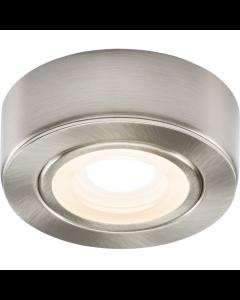 ML CABBCWW Brushed Chrome Round LED Under Cabinet Light Warm White