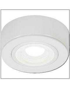 ML CABWWW White Round LED Under Cabinet Light Warm White