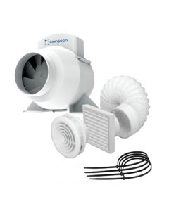 Monsoon UMD 4 Inch Inline Fan Kit with Timer