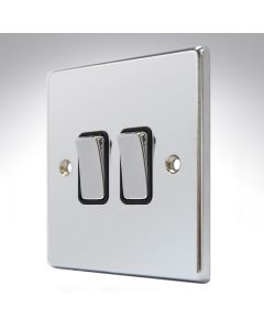 Hartland Chrome 2 Gang Light Switch Intermediate