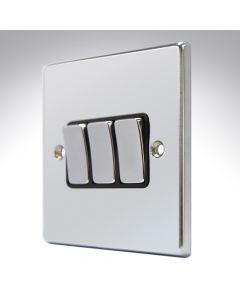 Hartland Chrome 3 Gang Light Switch