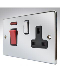 Hartland Chrome 45a Switch & Socket