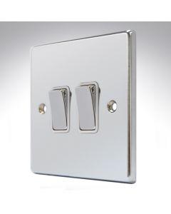 Hartland Chrome 2 Gang Light Switch