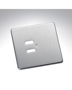 Rako 2 Button Wireless Wall Switch Cover Plate - Stainless Steel