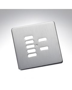 Rako 7 Button Wireless Wall Switch Cover Plate - Stainless Steel
