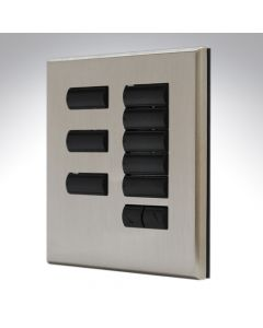 QS Switch 8 Button Satin Nickel