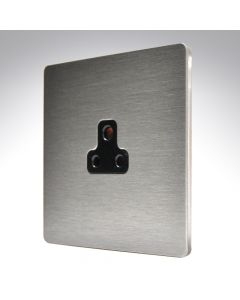 Sheer CFX Satin Steel Unswitched 2a Socket