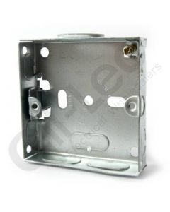 Flush 1 Gang Steel Socket Box 16mm