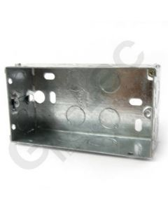 Flush 2 Gang Steel Socket Box 47mm