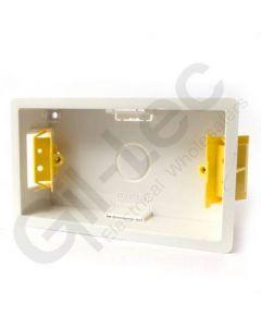 Plasterboard Socket Box 2 Gang 35mm