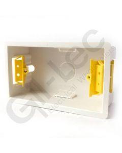 Plasterboard Socket Box 2 Gang 47mm