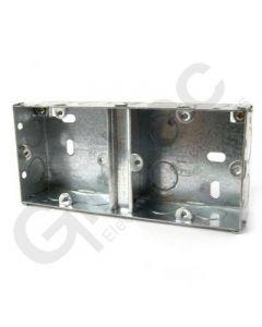 Flush Dual Steel Socket Box 35mm