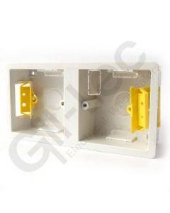 Plasterboard Socket Box Dual 35mm